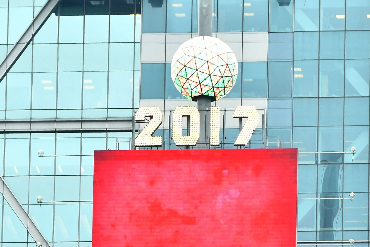 Times Square New Year's Eve 2017 - Ball Relighting