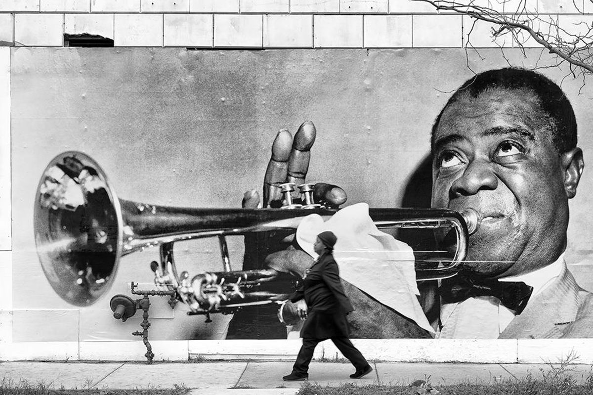 Louis Armstrong mural
