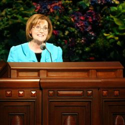 Linda S. Reeves said individuals must turn to the Lord for strength when they are weighed down by adversity.