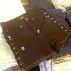 Lace-up shorts, $40