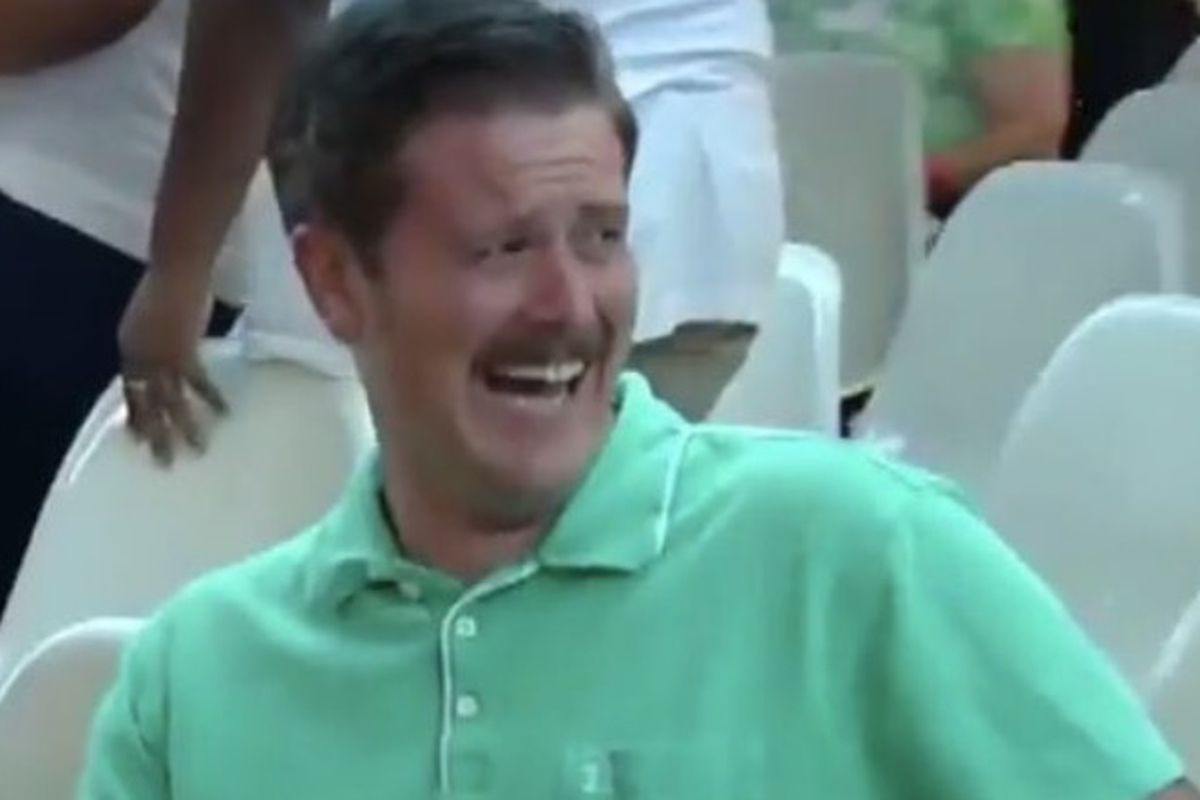 KVOA reporter Nick VinZant shared a video that showed protesters expressing their distaste. And #GreenShirtGuy laughed about it.