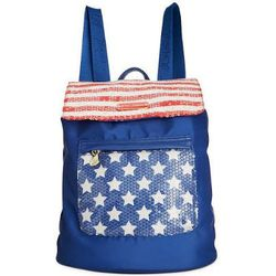 """<b>Betsey Johnson</b> American Backpack, <a href=""""http://www1.macys.com/shop/product/betsey-johnson-macys-exclusive-american-backpack?ID=1424624&CategoryID=26846&LinkType=%23fn=PRODUCT_DEPARTMENT%3DHandbags%26sp%3D1%26spc%3D15%26kws%3Dbetsey%20johnson%26s"""