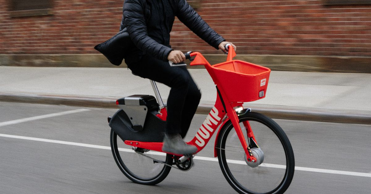 Uber acquires dockless bike share startup jump the verge