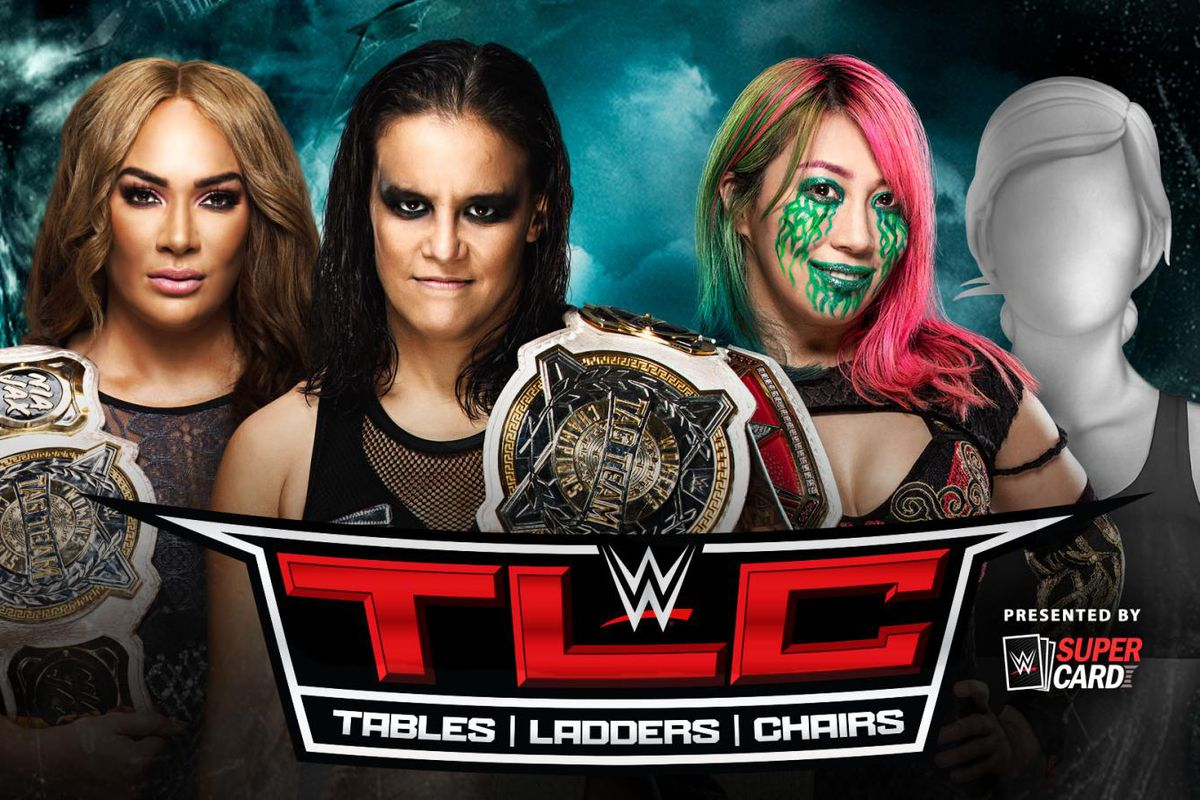 Match graphic for Asuka & ??? vs. Nia Jax & Shayna Baszler at TLC 2020