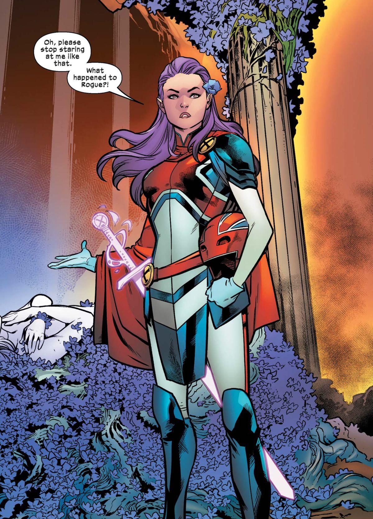 Betsy Braddock as Captain Britain in Excalibur #1 (2019).