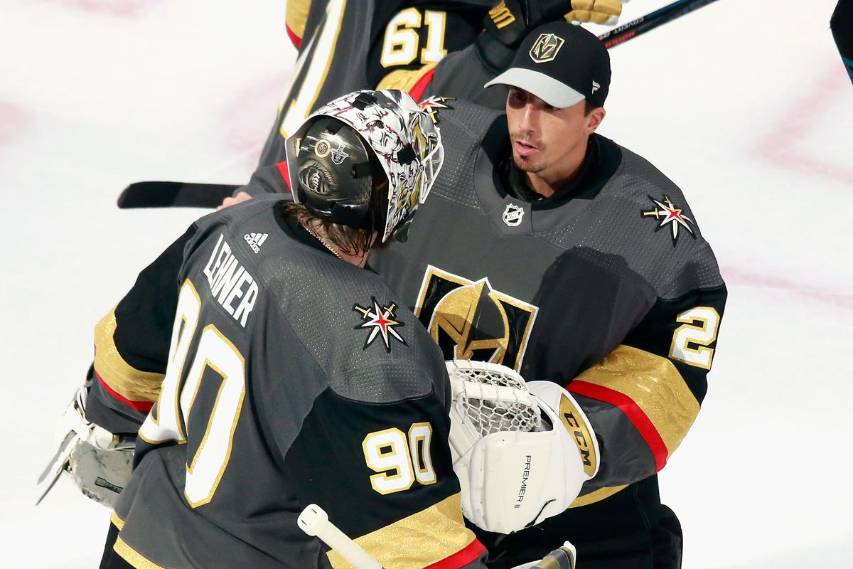 Golden Knights 5 Canucks 0 Robin Lehner Shines In Series Opener Vegas Takes 1 0 Lead Knights On Ice