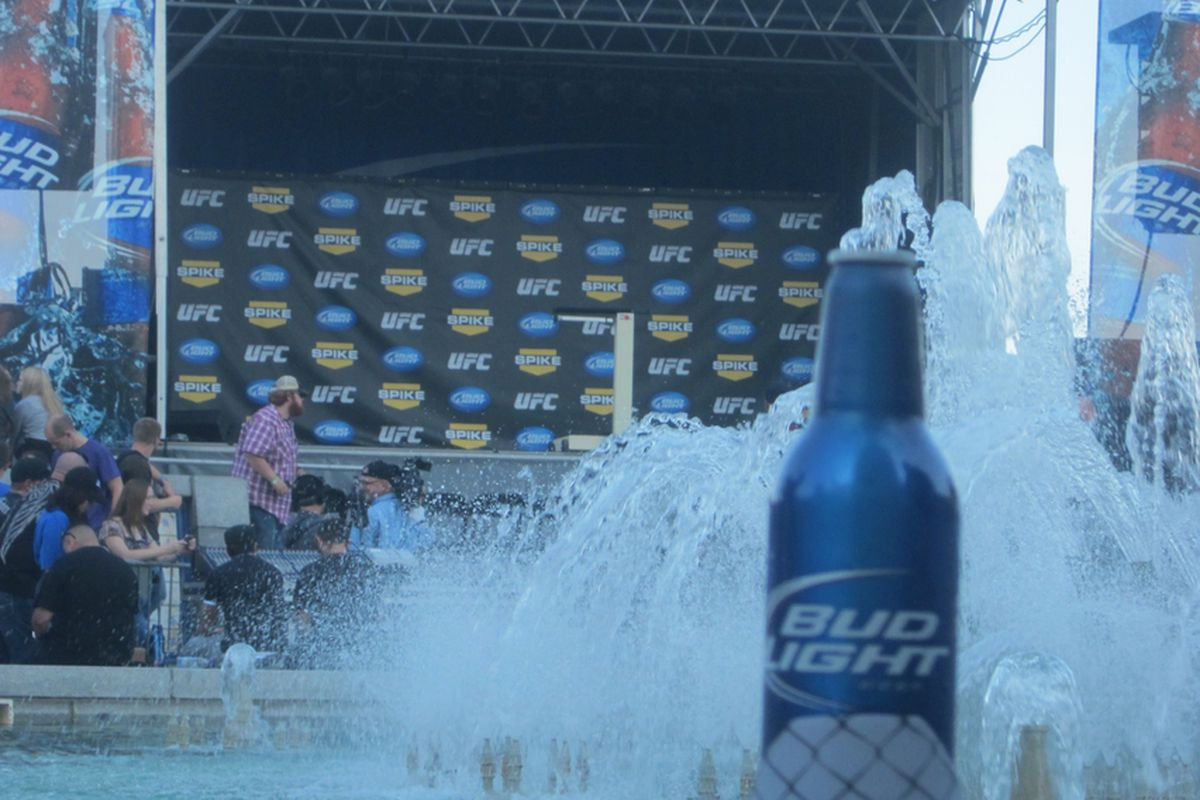 """Bud Light sponsored UFC Fight Night 25 in New Orleans """"Battle on the Bayou"""". Photo by Thomas Myers."""