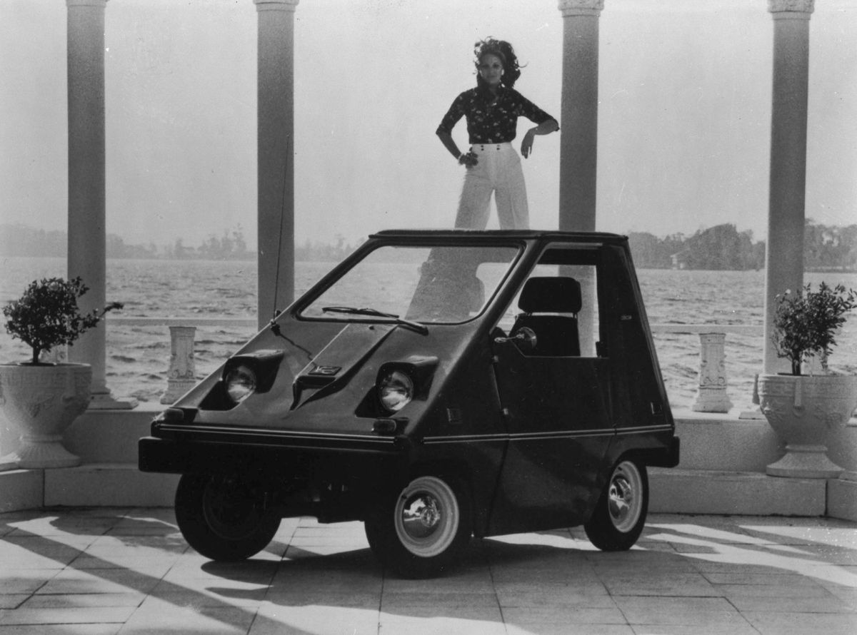 This Pyramid Shaped Two Penger Vehicle Is A Sebring Vanguard An Electric Car Manufactured In Fla 1974 Ap Photo File