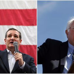 Texas Sen. Ted Cruz is the top pick of Utahns in Tuesday's GOP presidential preference caucus election and Vermont Sen. Bernie Sanders is their choice in the Democratic caucus vote, according to a new Deseret News/KSL poll.