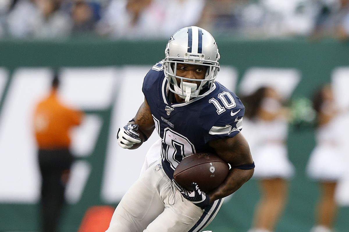 Tavon Austin of the Dallas Cowboys in action against the New York Jets at MetLife Stadium on October 13, 2019 in East Rutherford, New Jersey.