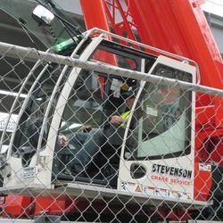 3:07 p.m. Crane operator on Sheffield -