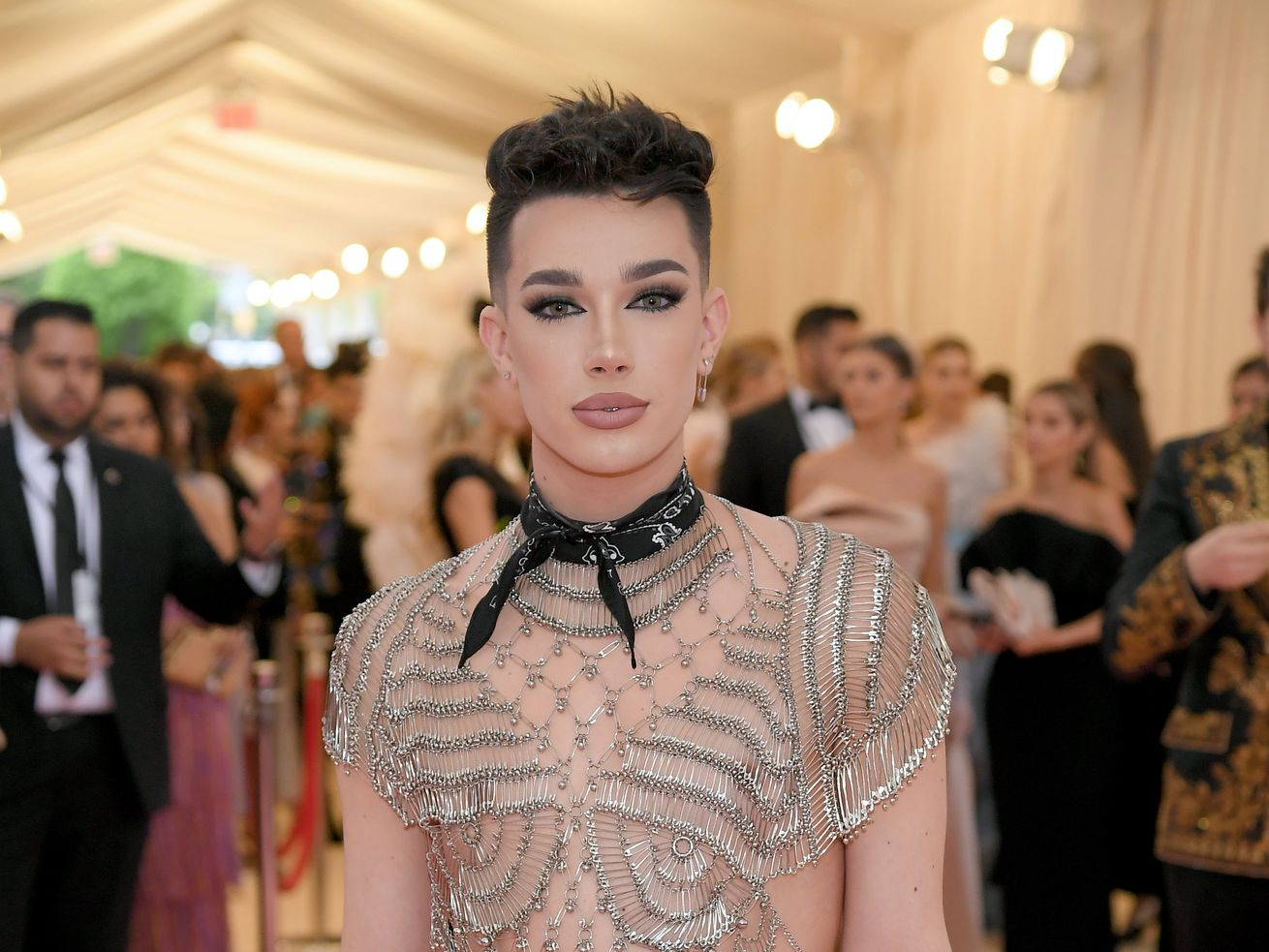 "James Charles at the 2019 Met Gala for ""Camp: Notes on Fashion."""