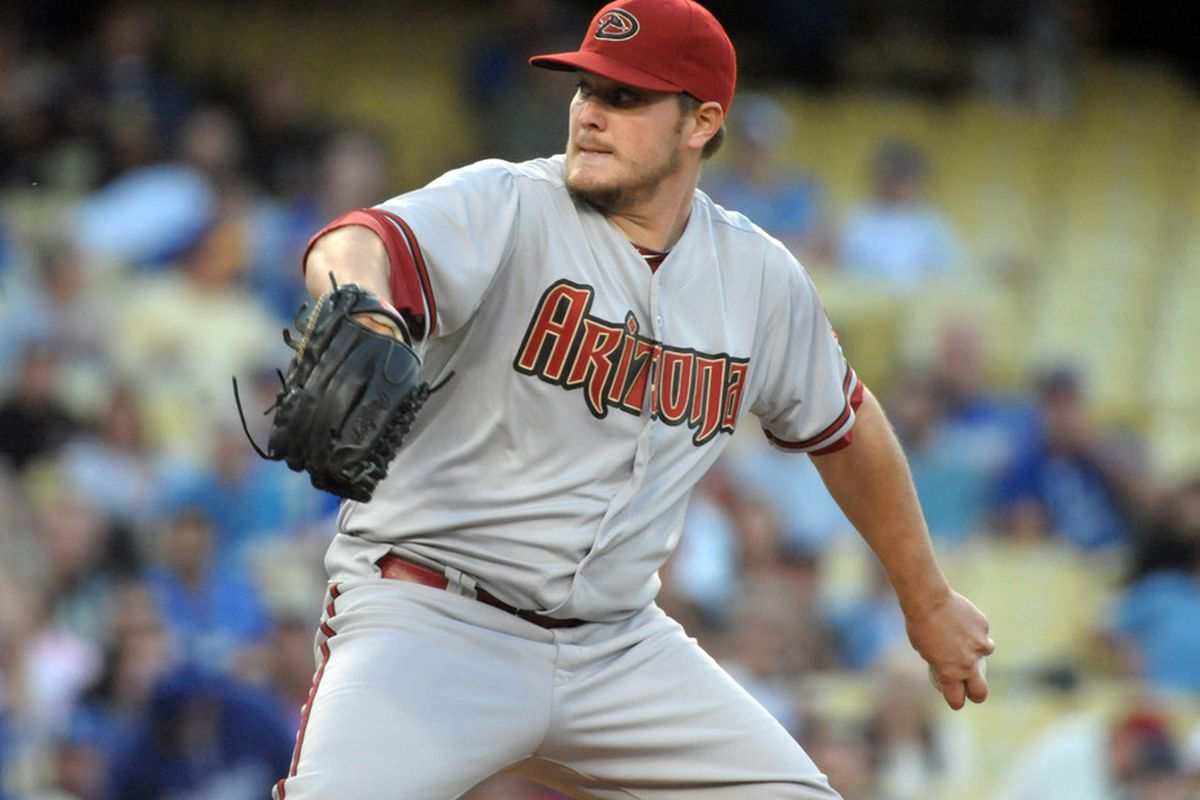 May 15, 2012; Los Angeles, CA, USA; Arizona Diamondbacks starter Wade Miley (36) delivers a pitch against the Los Angeles Dodgers at Dodger Stadium. Mandatory Credit: Kirby Lee/Image of Sport-US PRESSWIRE