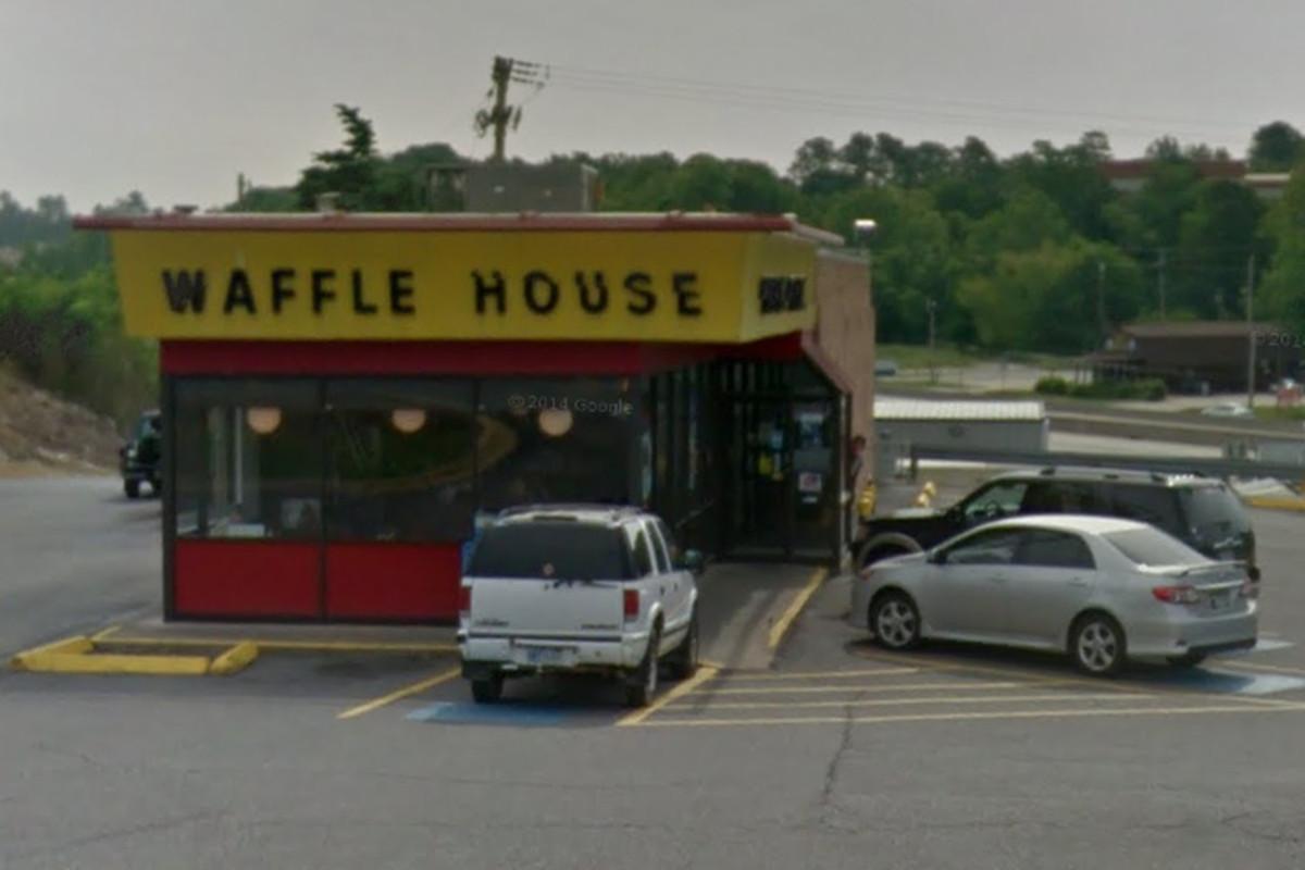 Waffle House at 1215 Hot Springs Highway, Benton, Arkansas.