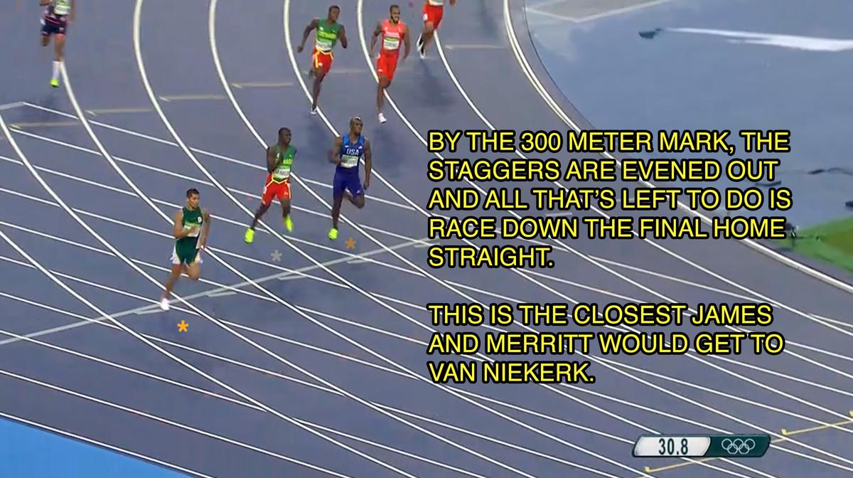 wayde van niekerk 300 meters into 400 wr