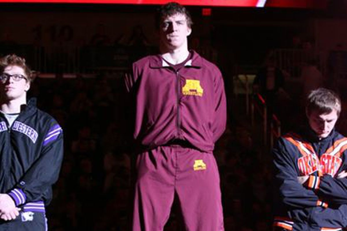Tony Nelson will try and win his third NCAA Wresting Championship Tonight!