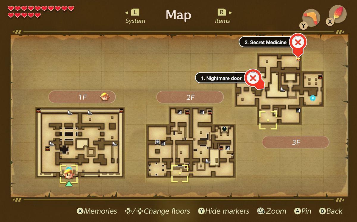 Link's Awakening Eagle's Towerpath to the Secret Medicine