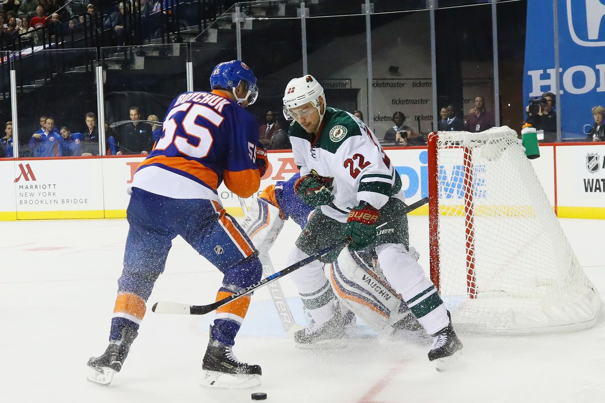 Former Islander Nino Niederreiter leads the league in score adjusted relative Corsi.