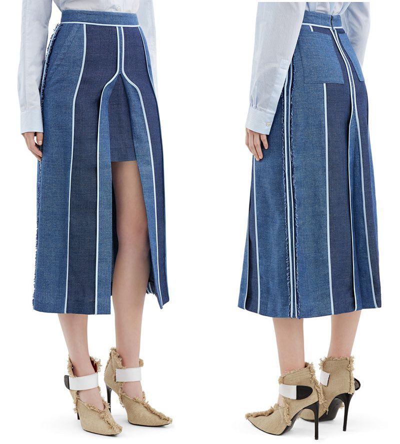 Acne Studios Kent linen denim skirt