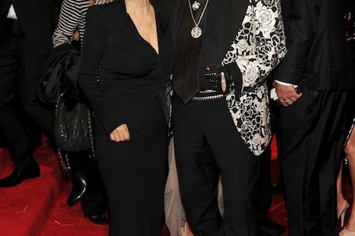 Yoko Ono and Karl Lagerfeld, our favorite photo of the night (Getty Images)