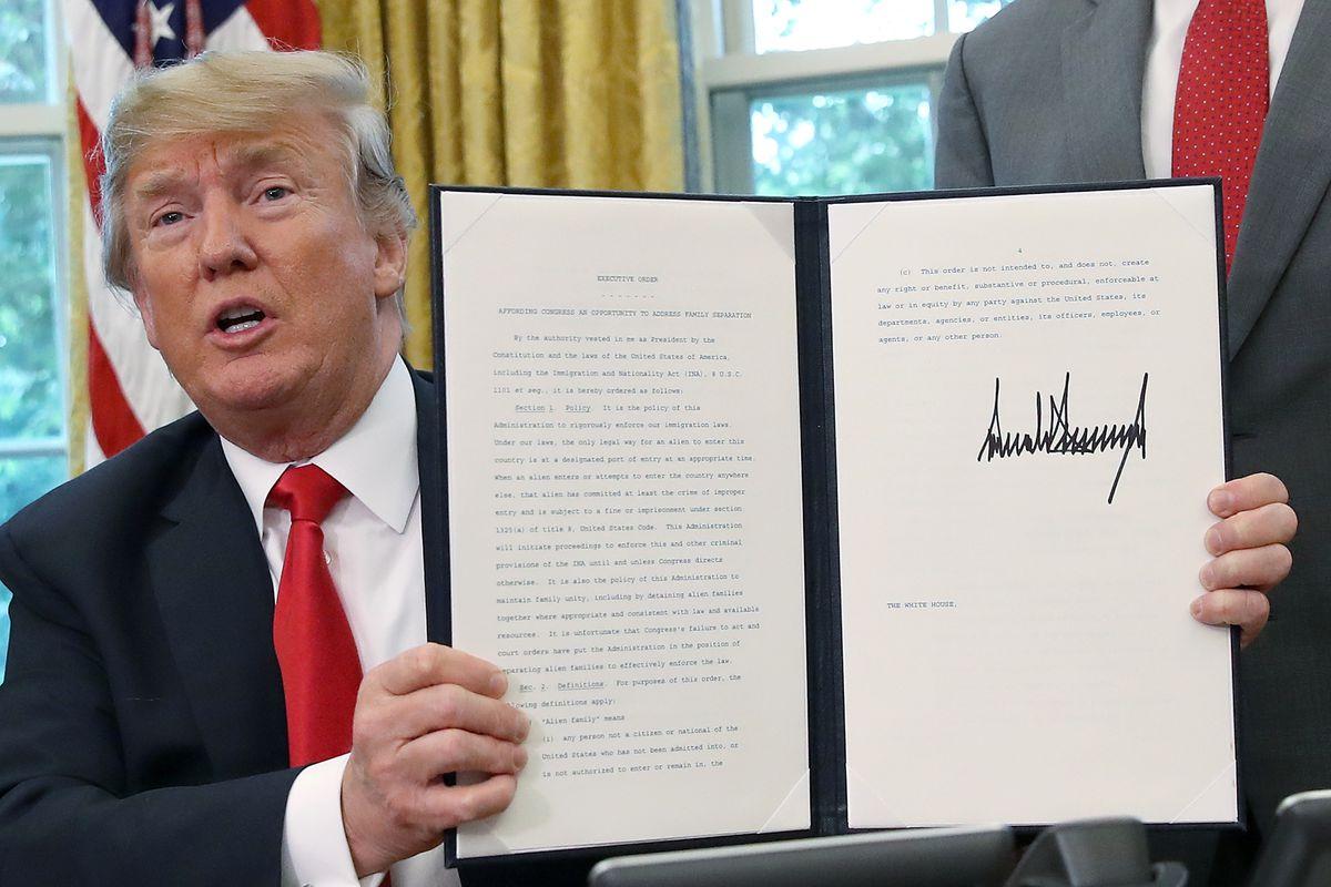 President Trump Signs Executive Order Ending Family Separations At Border