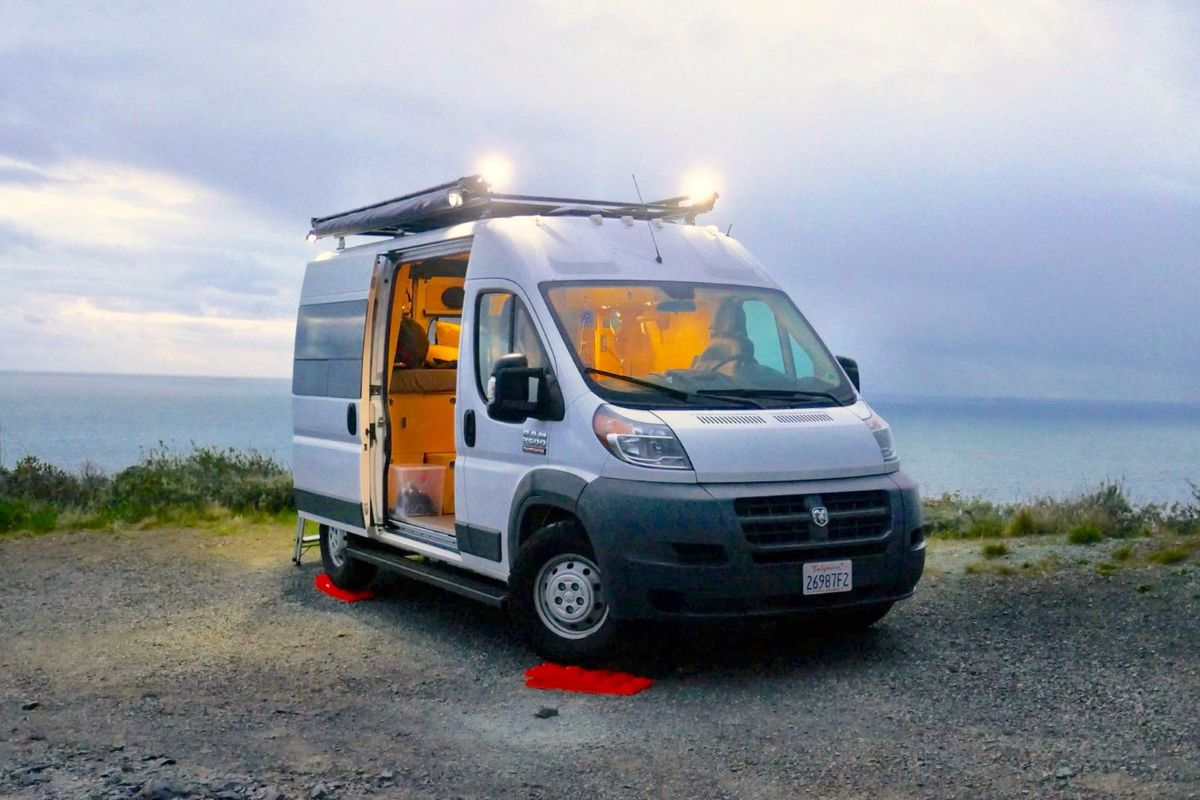 Affordable Camper Van Comes With A Rooftop Deck Curbed