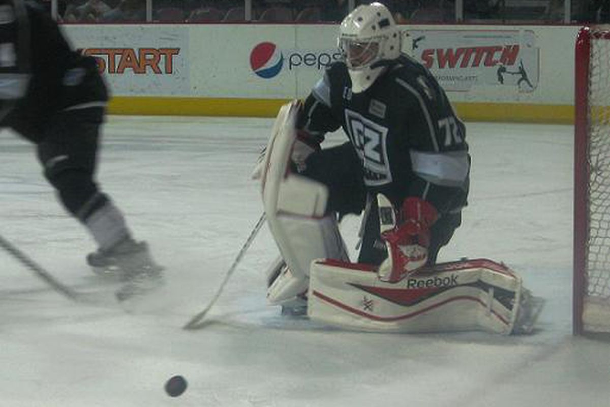 Goalie Andrew Engelage was voted the #1 goalie in the CHL this week