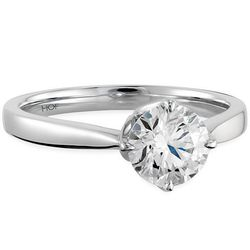 """Hearts on Fire Copley solitaire 18k white gold with .30 ct center diamond, $2,750 at <a href=""""http://www.bernierobbins.com/"""">Bernie Robbins</a>."""