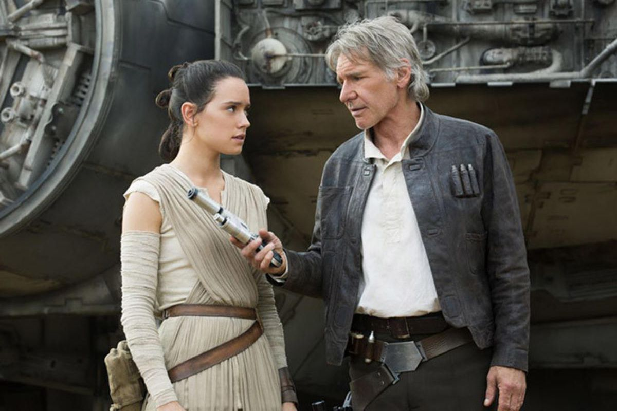 """Daisy Ridley and Harrison Ford star in """"Star Wars: The Force Awakens,"""" now on Blu-ray and DVD."""
