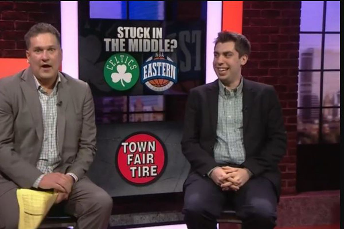 high five with kevin o connor of the ringer celticsblog