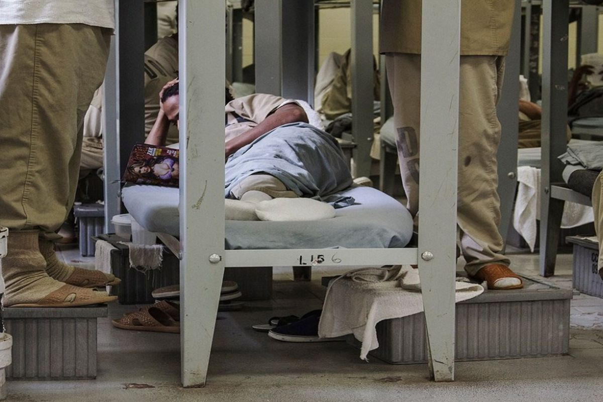 Detainees at the Cook County Jail.