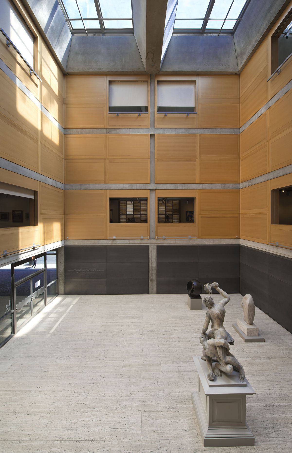 Yale Center for British Art, Entrance Court following reinstallation