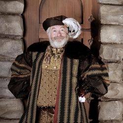 """Michael Ballam as King Henry VIII in Utah Festival Opera and Musical Theatre's revival of """"Rex,"""" a musical with lyrics by Sheldon Harnick, music by Richard Rodgers and book by Sherman Yellen."""