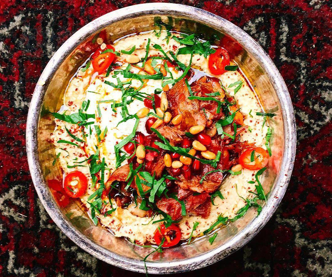 Cauliflower shawarma at Berber and Q in Haggerston, one of London's best live fire restaurants