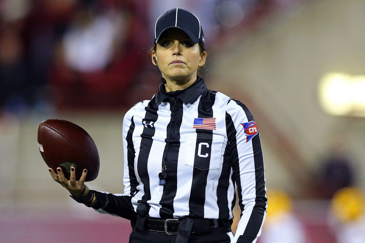 AAF official Amanda Sauer-Cook is the first out pro football referee -  Outsports