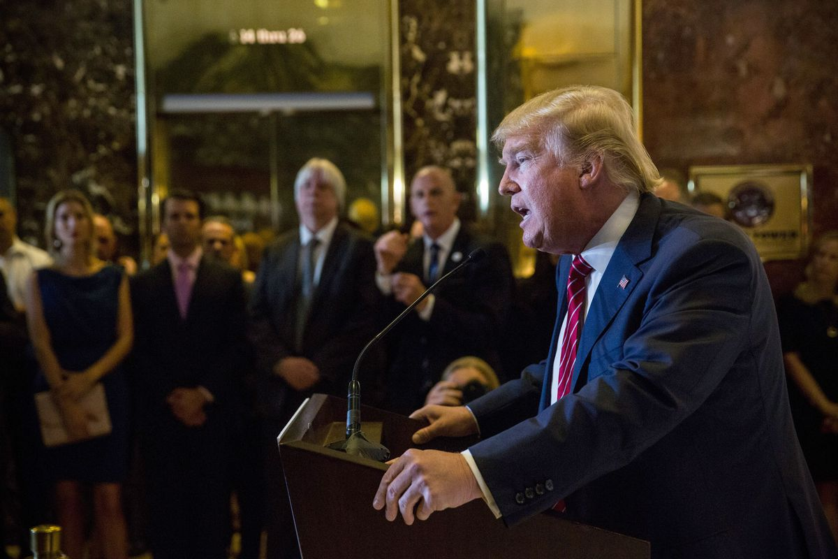 Donald Trump Holds Press Conference To Announce His Tax Plan