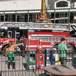 Fire truck on Clark -