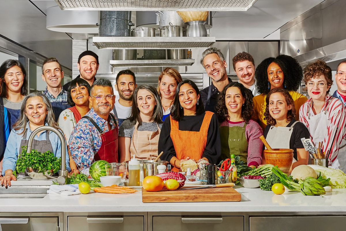 The crew from the Bon Appétit test kitchen