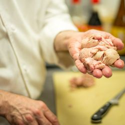 Cleaned sweetbreads.
