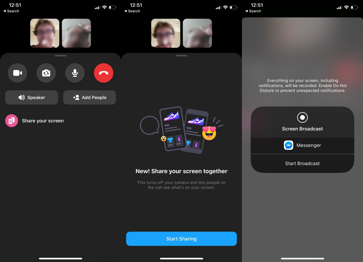 Facebook Messenger now lets you share your screen on mobile devices - The  Verge