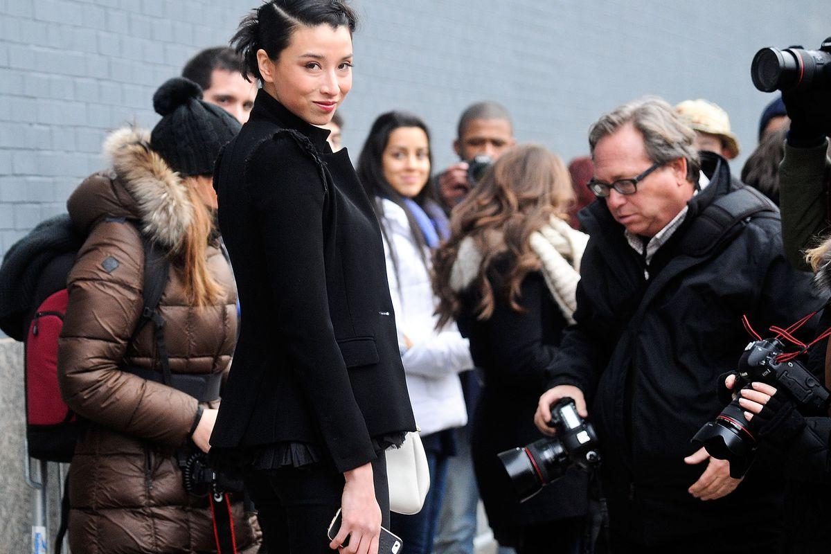 Lily Kwong af NYFW in 2014. Getty