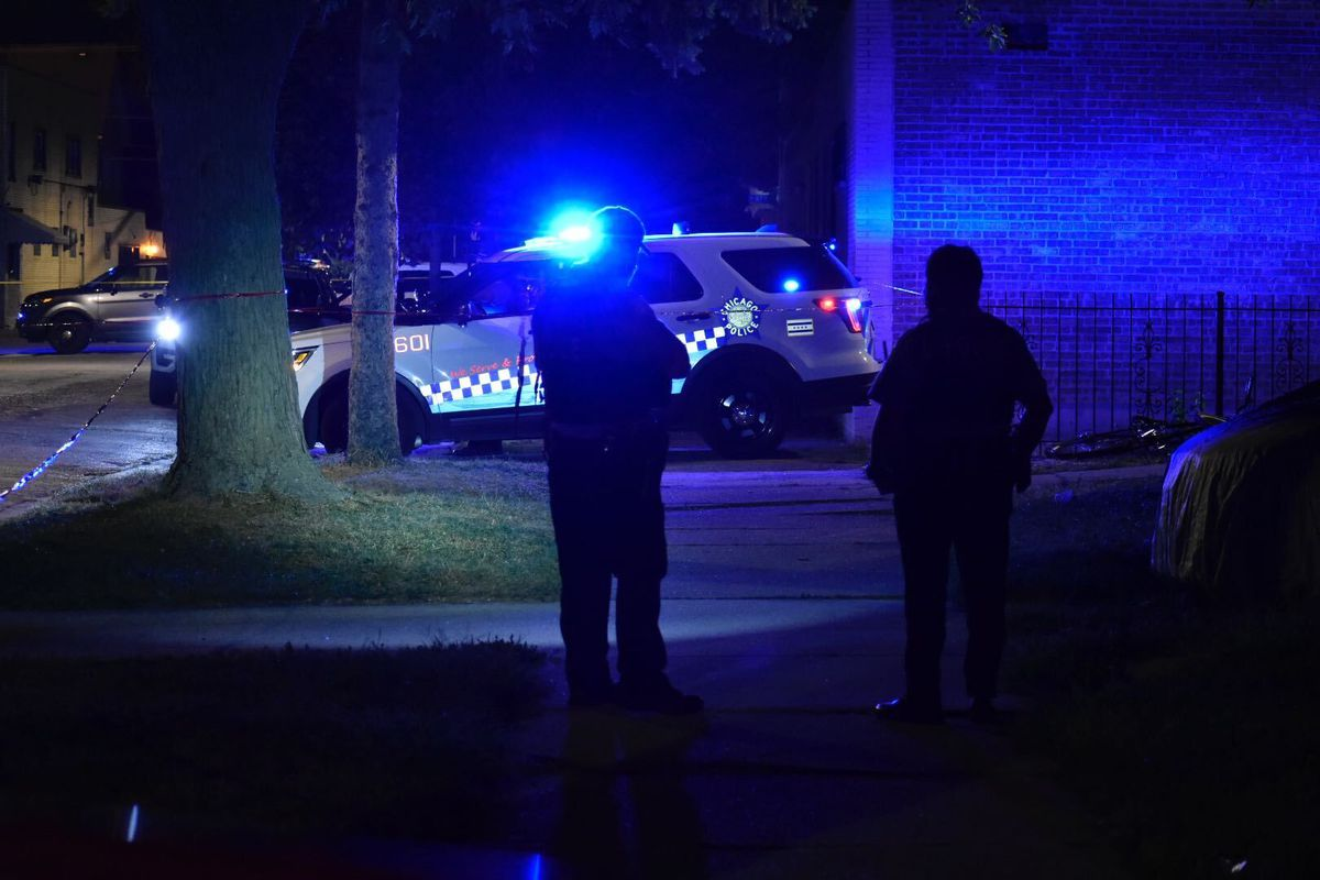 Fourteen people were shot, three of them fatally, Sept. 21, 2020, in Chicago.