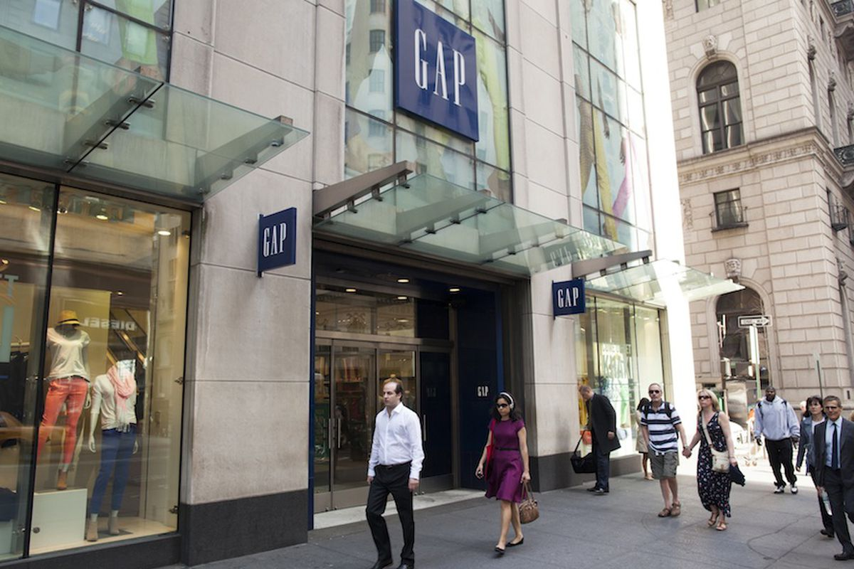 The Gap flagship on Fifth Avenue.