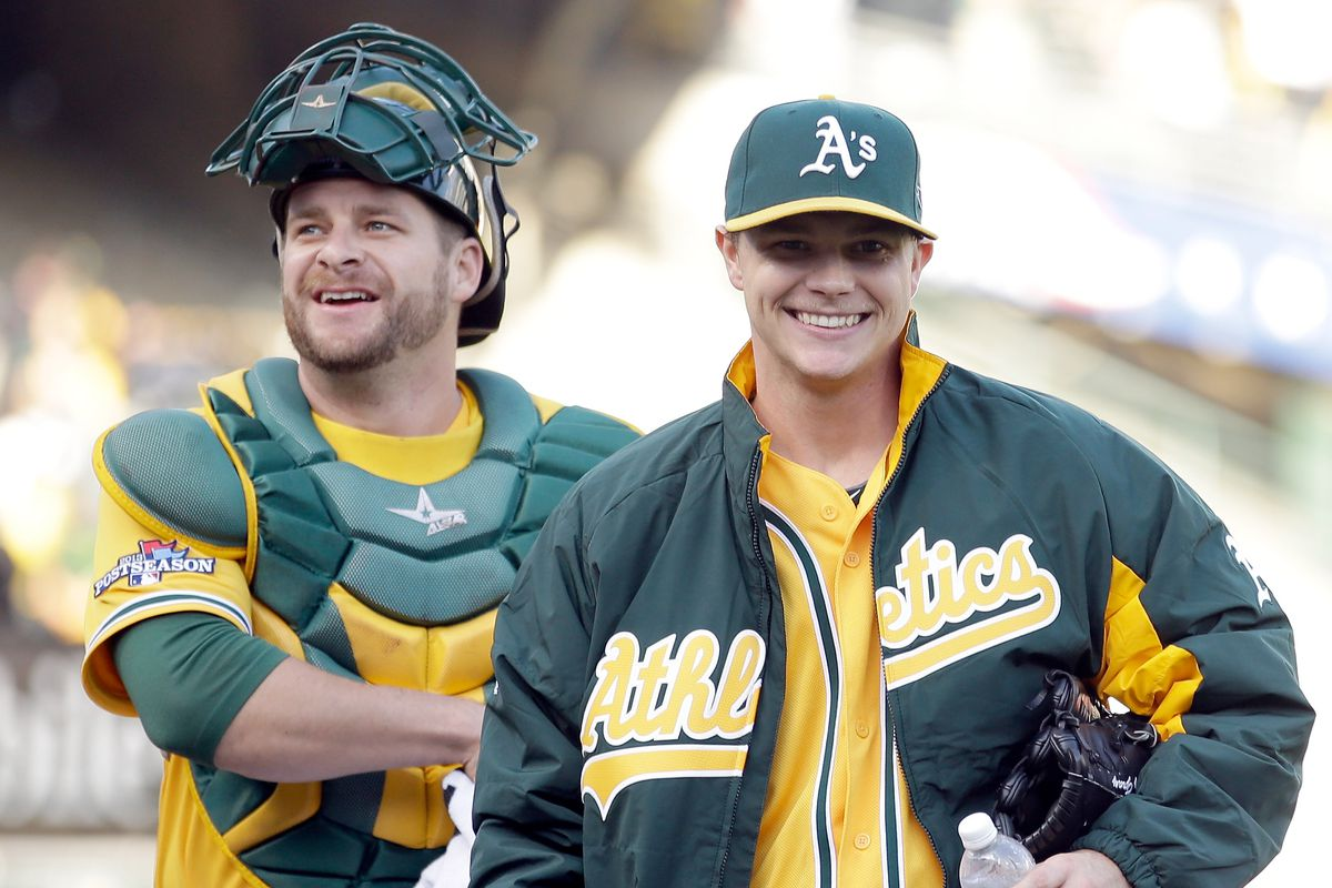 buy popular 990f8 8de26 MLB All-Star Game 2015  Oakland A s Stephen Vogt and Sonny Gray named to AL  team