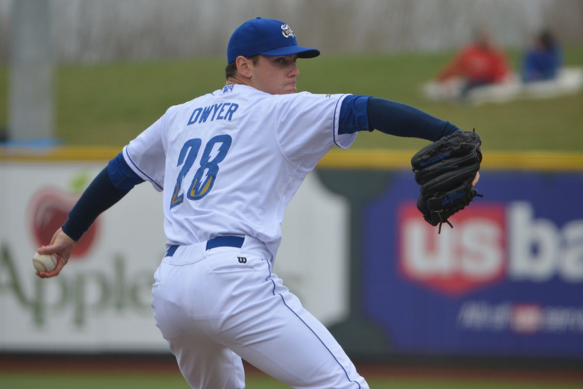 Chris Dwyer in action for Omaha earlier this season
