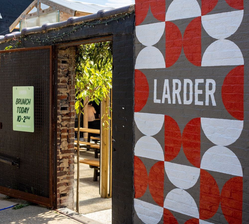 The entrance to Larder's courtyard