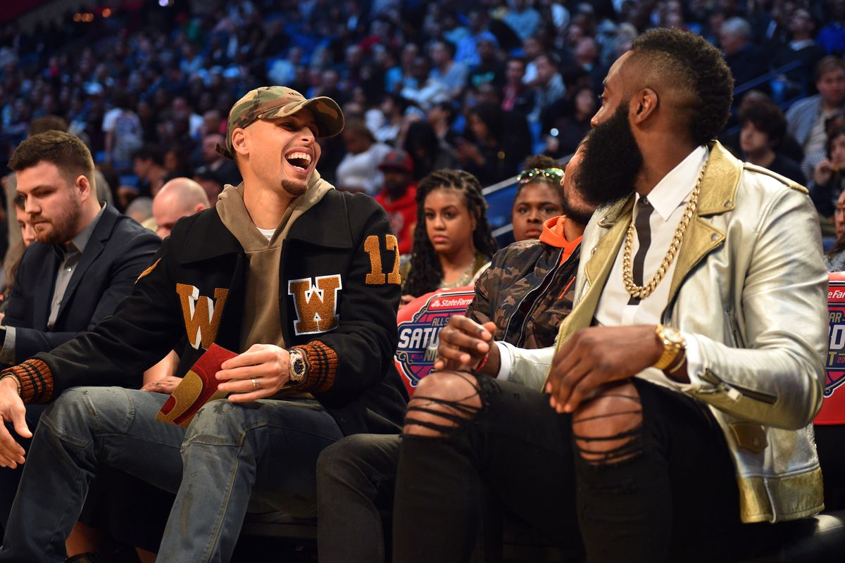 2babc4f36c58 Steph Curry and Kevin Durant say James Harden should be MVP - Golden ...