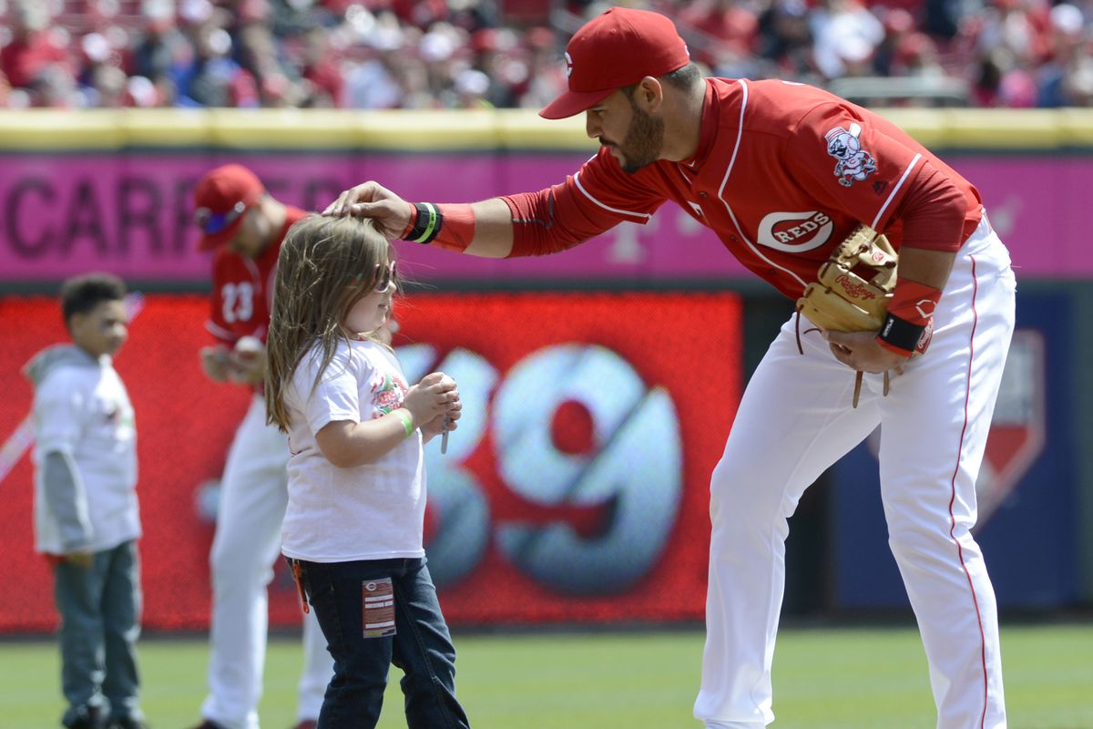 Eugenio Suarez apparently loves kids. He also loves crushing baseballs this year. Can he continue to do this?