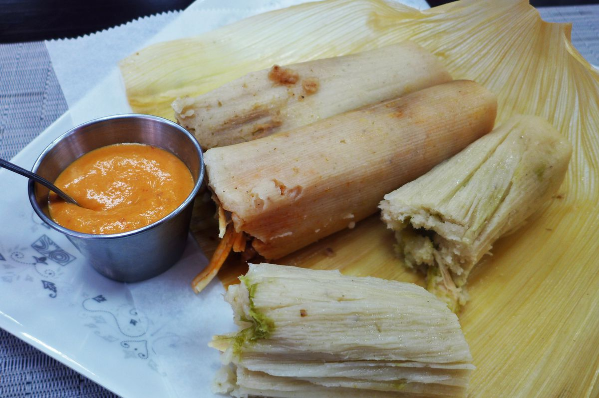 Seven types of tamales are offered.
