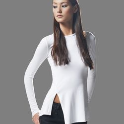 """Front and back vent top, <a href=""""http://intheblackclothing.com/collections/shop/products/front-back-vent-l-s#main"""">$123</a>"""
